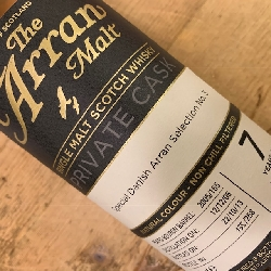 Arran Malt C155 7 år, 55,5% alc 70 cl